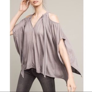 Anthropologie Deletta Tulay top grey M/L